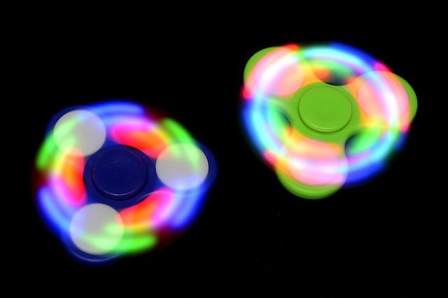 svítící spinnery