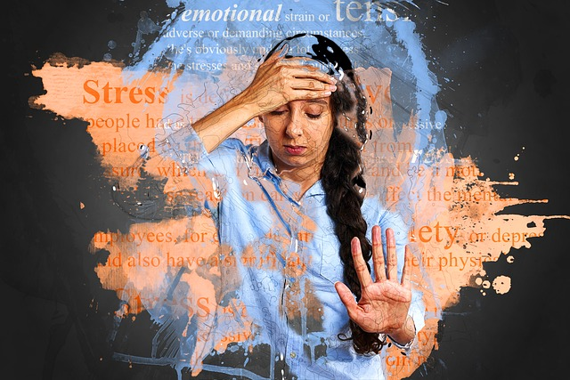 dívka ve stresu