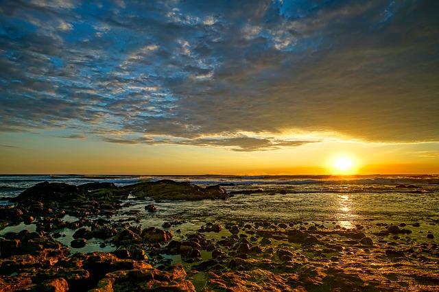 západ slunce na Kostarice