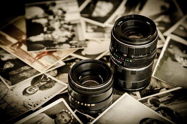 objektiv, staré fotografie