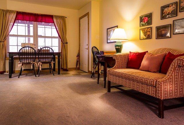 obývací pokoj, pohovka, koberec